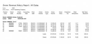 Sample Oil & Gas Accounting Report